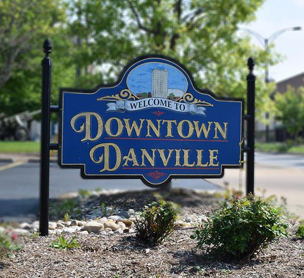 Downtown Danville IL - Sign